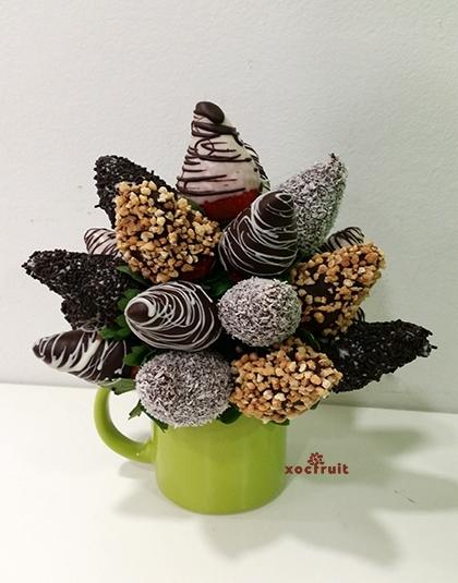 Fresons amb xocolata